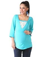Buy Morph Blue Maternity And Nursing Tee