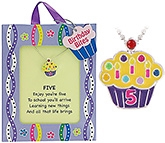 Tanyas Jewelry Cupcake Pendant In Birthday Bites Gift Bag - 5 Years