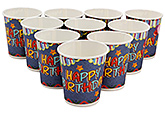 Buy Karmallys Printed Paper Cups Happy Birthday Star Print - 200 ml