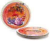 Buy Karmallys Printed Paper Plates Happy Birthday Print - 22 cm