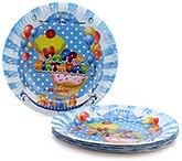 Buy Karmallys Printed Paper Plates Happy Birthday Pastry Print - 22 cm