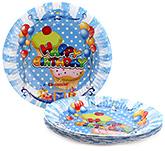 Buy Karmallys Printed Paper Plates Happy Birthday Pastry Print - 19 cm