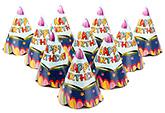 Karmallys Paper Caps Happy Birthday Star Print - 15 cm
