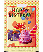 Buy Karmallys Printed Plastic Bag With Happy Birthday Cake Print