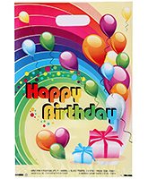 Buy Karmallys Printed Plastic Bag With Happy Birthday Balloon Print