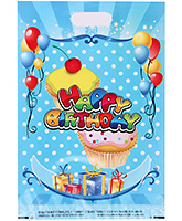 Karmallys Printed Plastic Bag With Happy Birthday Ice Cream Print