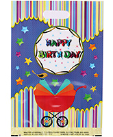 Karmallys Printed Plastic Bag With Happy Birthday Print