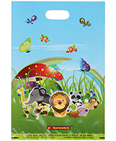 Karmallys Printed Plastic Bag With Happy Birthday Animals Print
