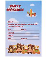 Karmallys Kids Party Invitation Pad - Bear Print