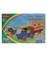 Blocks and Construction Sets - Peacock Kinder Blocks - Car, Tanker & Dumper Set