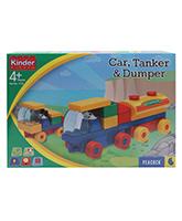 Blocks and Construction Sets - Peacock Kinder Blocks - Car, Tanker & Dumper Set