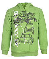 Babyhug Full Sleeves Sweatshirt - Vehicle Print