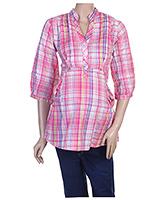 Buy Uzazi Maternity 3/4th Sleeves Shirt Style Top- Medium