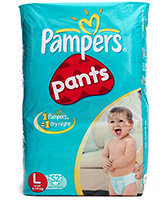 Pampers Diaper Pants Large - 52 pieces