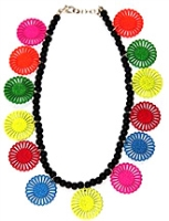Bombay Chic Dancing Discs Necklace