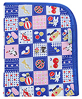 1st Step Baby Mat Multi Print - Navy Blue