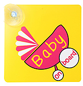 Vacky Yellow Car Sign - Baby On Board