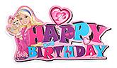 Buy Barbie Happy Birthday Banner - Pink