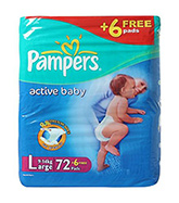 Baby Diapers - Pamper Active Baby
