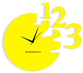 Blacksmith 123 Clock - Yellow