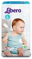 Libero Baby Diaper Large - 5 Pieces