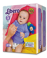 Buy Libero Baby Diaper Small - 10 Pieces
