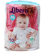 Libero Baby Diaper Medium - 10 Pieces