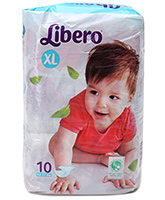 Buy Libero Baby Diaper Extra Large - 10 Pieces