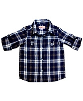 Campana Blue Full Sleeves Check Print Shirt - Roll Up Sleeves