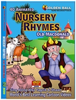 Golden Ball 40 Animated Nursery Rhymes DVD