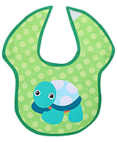 Honey Bunny Easy Clean Bib - Green