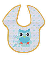 Honey Bunny Fun Bib Duck Print - Yellow