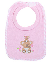 Honey Bunny Milk Feeding Bib - Pink