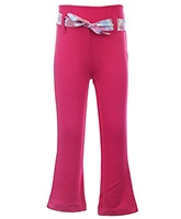 Quarter Spoon Full Length Pink Trouser - Printed Fabric Belt