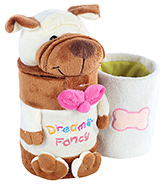 Fab N Funky Brown Dog Pattern Pencil Holder
