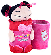 Fab N Funky Red Japanese Doll Pattern Pencil Stand