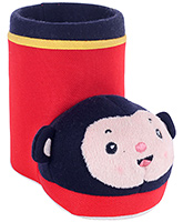 Fab N Funky Red Boot Shape Monkey Applique Pencil Stand