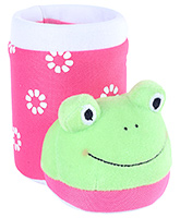 Fab N Funky Pink Boot Shape Frog Applique Pencil Stand