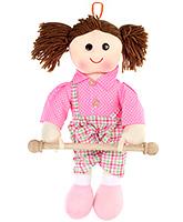 Fab N Funky Napkin Hanger - Doll In Checks