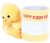Fab N Funky Yellow Duck Pattern Pencil Stand