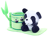 Fab N Funky Green Panda Pattern Pencil Stand