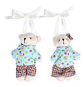 Fab N Funky Teddy Bear In Polka Dot Dress Curtain Tieback