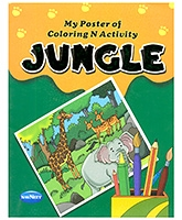 Buy NavNeet My Poster Of Colouring And Activity Jungle - English