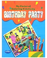 Buy NavNeet My Poster Of Colouring And Activity Birthday Party - English