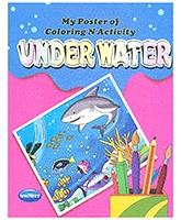 Buy NavNeet My Poster Of Colouring And Activity Under Water - English