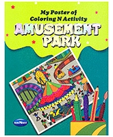 Buy NavNeet My Poster Of Colouring And Activity Amusement Park - English
