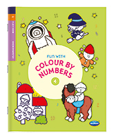 Buy NavNeet Fun With Colour By Numbers Part 4 - English