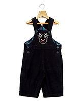 Beebay Navy Blue Casual Dungaree - Reindeer Face Embroidery