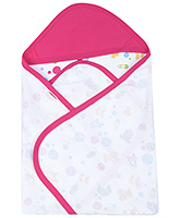 Morisons Baby Dreams Hooded Cloth Wrap - Pink