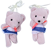 Buy Fab N Funky Teddy Bear Pattern Curtain Tieback - Pink
